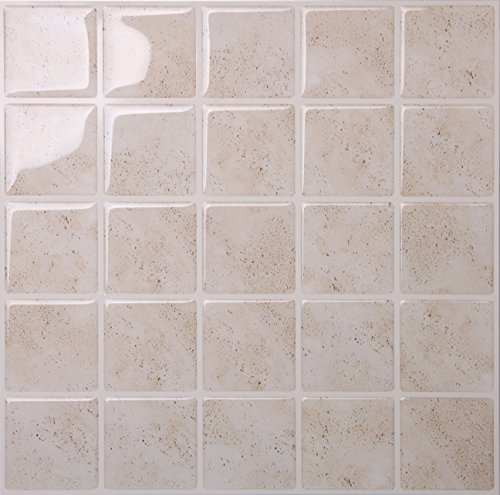 Tic Tac Tiles Anti Mold Peel And Stick Wall Tile In Marmo