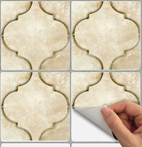 Lovely Tile Stickers Moroccan 24pc 4x4in Peel And Stick For Kitchen And Bath  NS001 4 Waterproof Suitable For Shower And Behind Kitchen Sink  Self Adhessive Stick ...