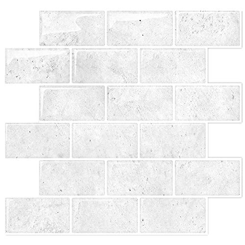 STICKGOO White Subway Tiles Peel And Stick Backsplash